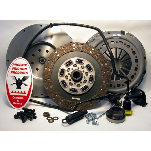 Stage 2 Heavy Duty Organic Solid Flywheel Conversion Clutch Kit - Dodge, Ram 5.9L 6.7L Turbo Diesel G56 6 Speed 2005 - 2014