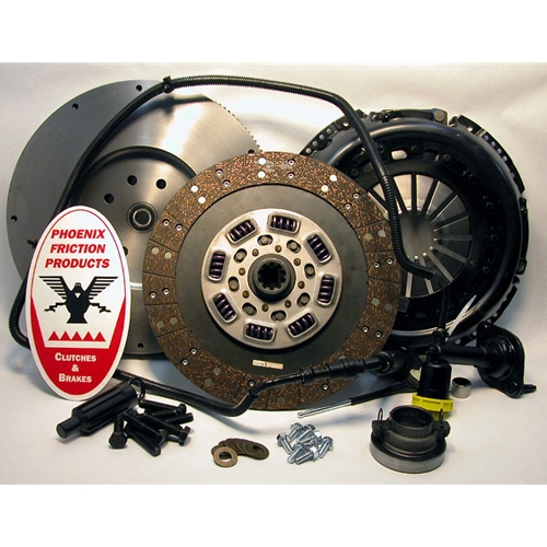 Stage 3 Extra HD Organic Solid Flywheel Conversion Clutch Kit - Dodge, Ram 5.9L 6.7L Turbo Diesel G56 6 Speed 2005 - 2014