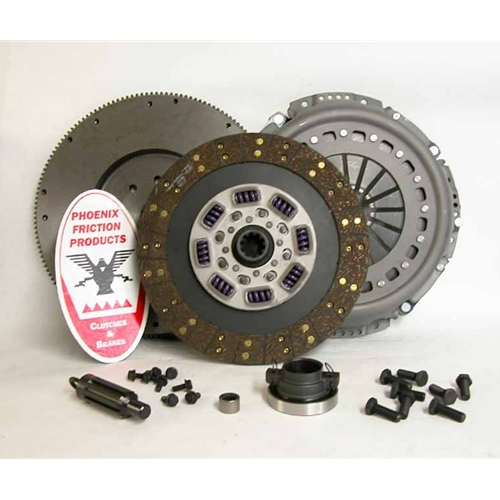 Stage 2 Heavy Duty Organic 13 inch Upgrade Clutch Kit with Flywheel - Dodge Ram 5.9L Diesel 1998 - 2005