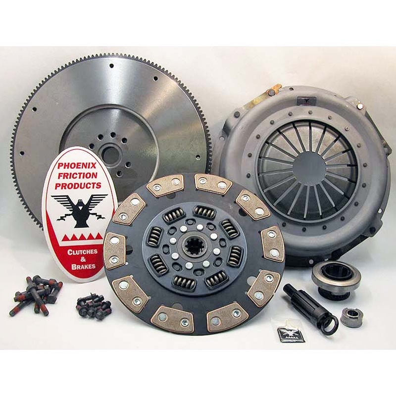Stage 3 Ceramic Solid Flywheel Replacement Clutch Kit and Flywheel - Ford 7.3L IDI Diesel 1987 - 1994