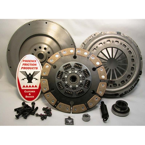 Stage 3 Ceramic Solid Flywheel Replacement Clutch Kit and Flywheel - Ford 7.3L Turbo Diesel 1994 - 1998