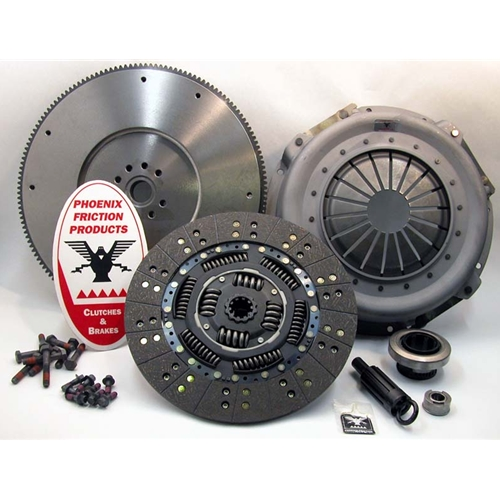 Solid Flywheel Replacement Clutch Kit and Flywheel - Ford 7.3L IDI Turbo Diesel 1993 - 1994