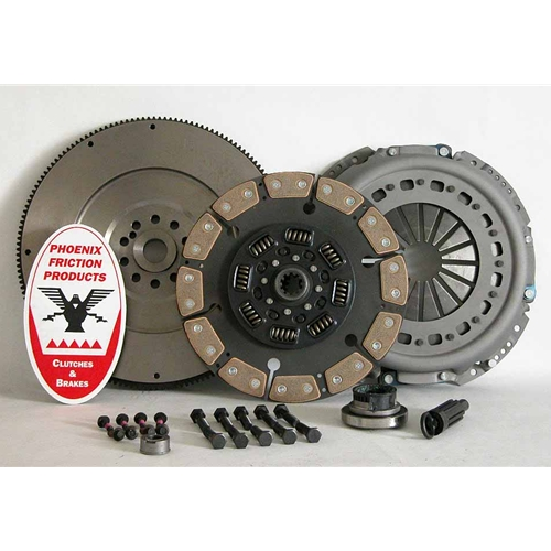 Stage 4 Ceramic Solid Flywheel Replacement Clutch Kit and Flywheel - Ford 7.3L Turbo Diesel 1994 - 1998
