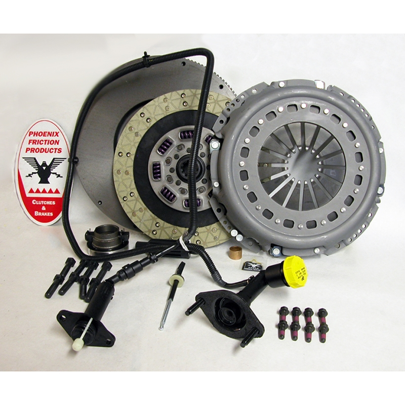 Stage 3 Heavy Duty Kevlar/Ceramic Solid Flywheel Conversion Clutch Kit - Dodge, Ram 5.9L 6.7L Turbo Diesel G56 6 Speed 2005 - 2014