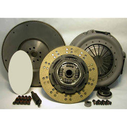07-131CK.2K Stage 2 Kevlar Clutch and Solid Flywheel Kit: Ford 7.3L Diesel VIN M F250 F350 F450 Pickup 1987 - 1994 - 12-1/4 in.