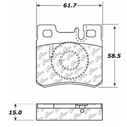 P 30463 D495 Semi Met Disc Pads Rear Mercedes