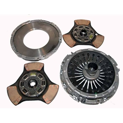 104200-1 New Eaton Fuller 14.4 in. Pull-Type Diaphragm 2 Plate x 1-3/4 in. Spline 3 Ceramic Super Button Clutch Set
