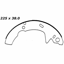 RBS 566 Relined Brake Shoes: 8.86 x 1½""