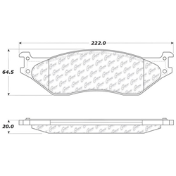 D1066 Severe Duty Disc Pads: Front and Rear - Ford F450 F550