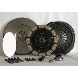 07-154CK.5C Stage 5 Extra Heavy Duty Ceramic Solid Flywheel Conversion Clutch Kit: Ford 7.3L Powerstroke Diesel F250 F350 F450 Pickup - 13 in.