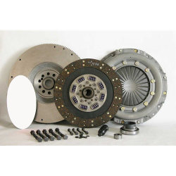07-501CK.3 Stage3 Extra Heavy Duty Organic Solid Flywheel Conversion Clutch Kit: Ford 7.3L Powerstroke Diesel F250 F350 F450 Pickup - 13 in.
