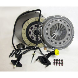 05-124CK.2KC Stage 2 Kevlar/Ceramic Dual Friction Solid Flywheel Conversion Clutch Kit: Dodge Ram 2500, 3500, 4500, and 5500 G56 6 Speed Transmission - 13 in.