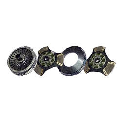 104200-1A New Spicer Style 14.4 in. Pull-Type Diaphragm 2 Plate x 1-3/4 in. Spline 3 Ceramic Super Button Clutch Set