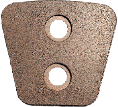 Ceramic cluch button