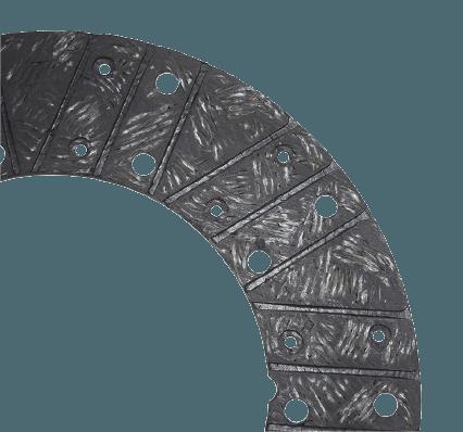 Woven organic clutch disc
