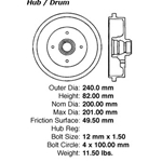 BD 33000P Premium Brake Drum: Rear - Audi, Volkswagen