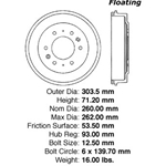 BD 45011 Brake Drum: Rear - Mazda Pickup