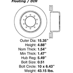 BR 65115P Premium Brake Rotor: Rear - Ford LCF450 LCF 550, International, Sterling