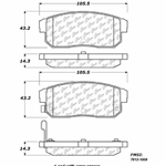 D1008 Ceramic Disc Brake Pads: Rear - Mazda