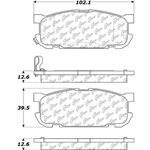 D1002 Semi-Met Disc Brake Pads: Rear - Mazda