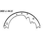 BS 030 Brake Shoes: 12 in. x 1-3/4 in.