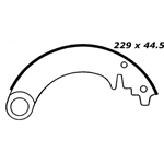 BS 076 Brake Shoes: 9 in. x 1-3/4 in.