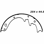 "RBS 151 Relined Brake Shoes: 10"" x 1¾"""