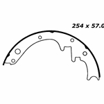 BS 154 Brake Shoes: 10 in. x 2-1/4 in.