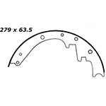 BS 160R Brake Shoes: 11 in. x 2-1/2 in.