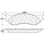 D1096 Severe Duty Disc Brake Pads: Front - Dodge Pickup
