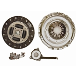 02-212 Solid Flywheel Replacement Clutch Kit: Audi TT Quattro, VW Beetle Golf Jetta 1.8L Turbo - 9-1/2 in.