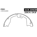 BS 1043 Parking Brake Shoes: Ford F450 F47 F550 9.05 in. x 1.37 in.