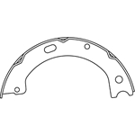 BS 1061 Parking Brake Shoes: Hino FA FB with Manual Transmission