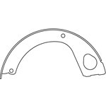 BS 1062 Parking Brake Shoes: Hino FA FB with Automatic Transmission, FE FF