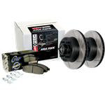 970.67026 StopTech High Carbon Slotted Rotors with Para-Aramid Performance Brake Pads
