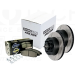 970.65009 StopTech High Carbon Slotted Rotors with Para-Aramid Performance Brake Pads Ford F250 F350